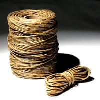 Real waxed twine - lets you manipulate the stocks when fitting the bag